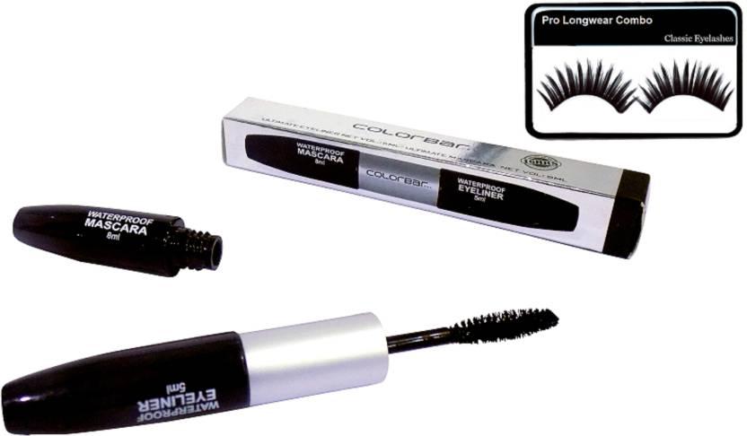 0307358f7 Pro longwear combo Eyelashes With Colorbar 2in1 Eyeliner & Mascara (Set of  2)