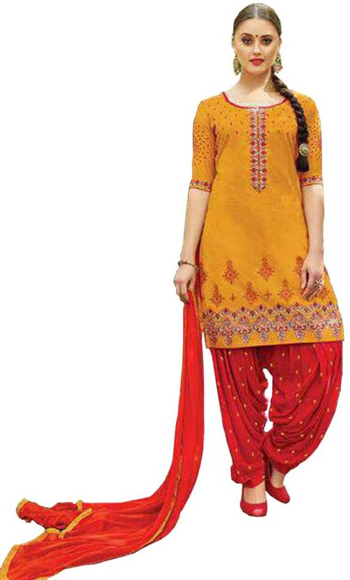 fcf5abe7b7 Nirjas designer Pure Cotton Embroidered Semi-stitched Salwar Suit Material  Price in India - Buy Nirjas designer Pure Cotton Embroidered Semi-stitched  Salwar ...