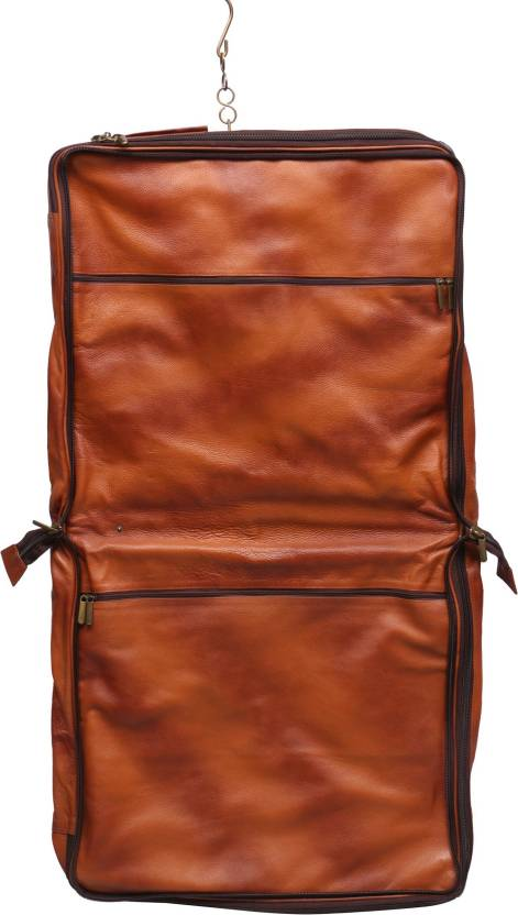 32fa60da053e OBANI Garment Bag Genuine Leather Men s Coat Blazer suit Cover TL140 (Brown)