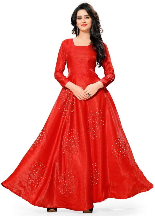 6bdb2726a9 KHODAL CREATION Anarkali Gown Price in India - Buy KHODAL CREATION ...