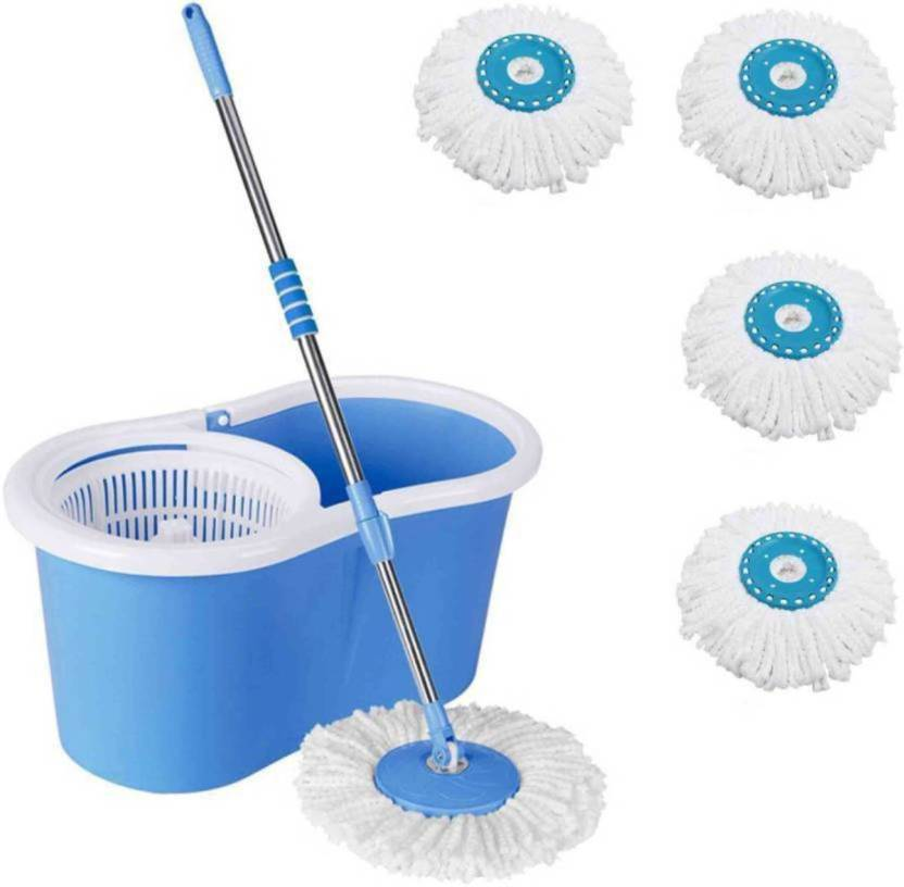 Autovilla Au 45422 Magic Spin Mop And Bucket Set For Best 360 Degree