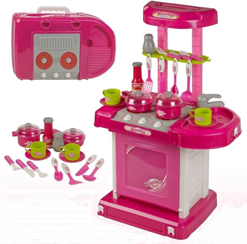 Elektra Big Size Luxury Battery Operated Portable Kitchen Set Toys