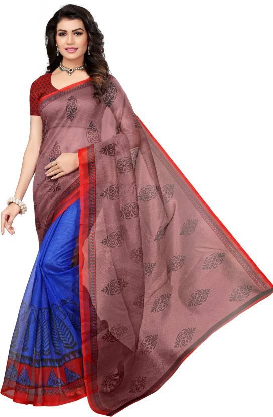 fe5f16784e Buy Saree Exotica Printed Kota Doria Kota Silk Multicolor Sarees ...