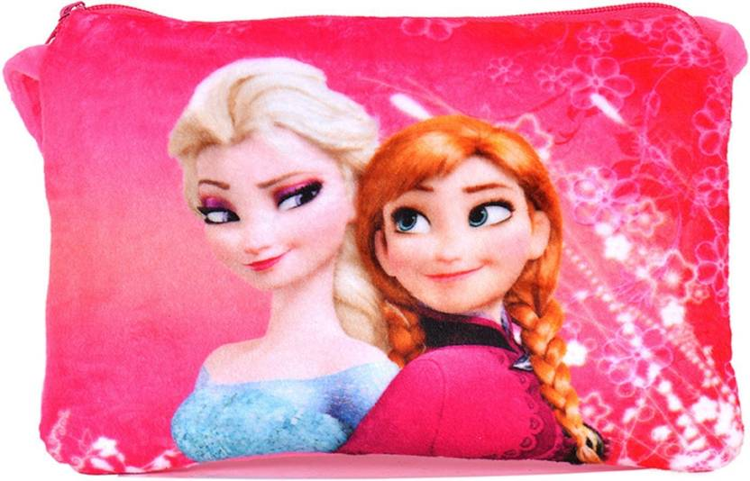 f73da3673f Chords Dark Pink Disney Frozen Princesses Elsa & Anna Sling Bag For Women -  15 cm