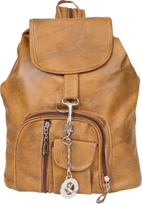 7fe08ff7914 Styler King Stylish Girls School bag College Bag (Tan) 10 L Backpack