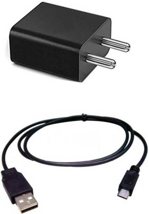 9e0ddb60164 Grostar 100% Original Wall Charger With 2 ampere 1 Meter Micro USB Cable  Charging Cable Data Cable For all Xia_omi mobile phones Mobile Charger  (Black, ...