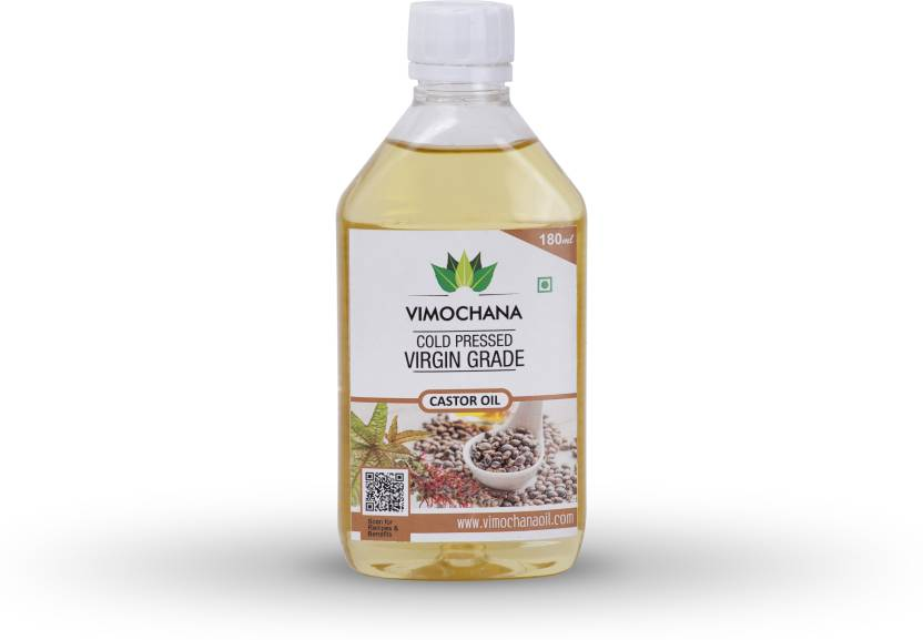 vimochana Cold Pressed Hexane Free Castor Oil 180 ml Plastic Bottle