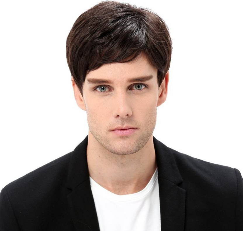 Confidence New Style Synthetic Short Wig For Men, Black Hair