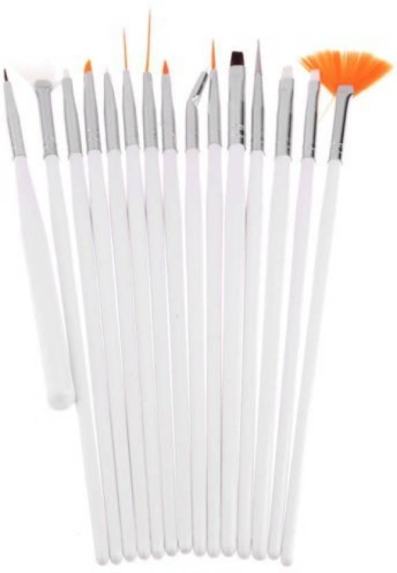 Ski 15pcs Nail Art Design Painting Drawing Uv Polish Brush Tools Set