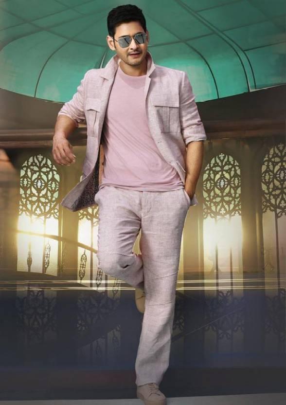 Superstar Actor Mahesh Babu Hd Wall Poster Multicolor Print Texture