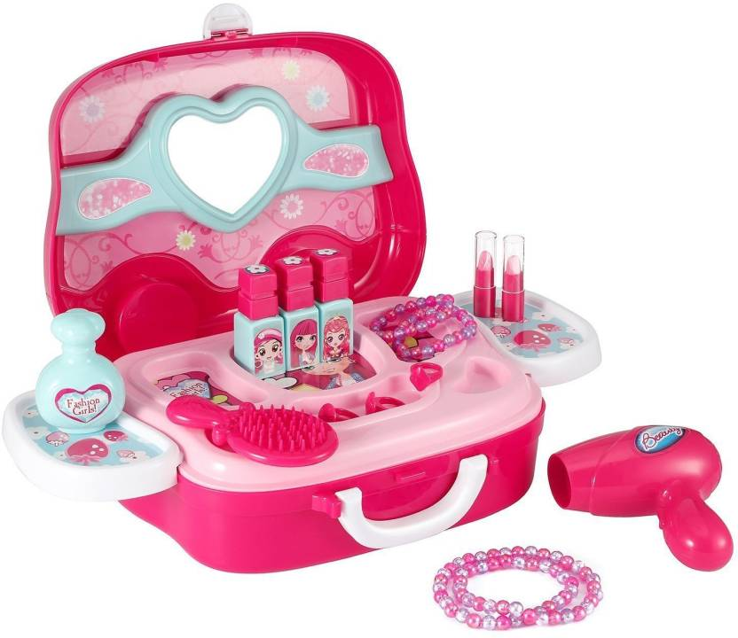 2504cf55c4eef Prince Toys Branded Children Beauty Makeup Kit Pretend Play Cosmetic Set  Toy Kids Role Games Tools Accessories Portable Suitcase (17in1) - Branded  Children ...