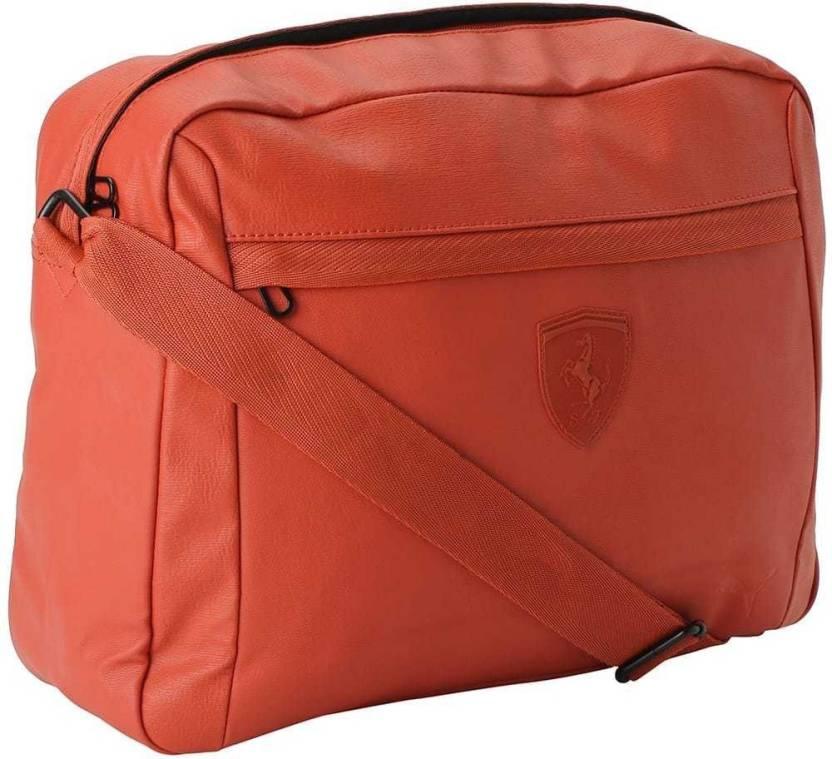 1691ed1035 Puma Men   Women Casual Orange PU Sling Bag Bossa Nova - Price in India