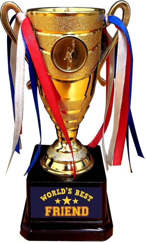 giftsmate friendship day gifts trophy for friend worlds best friend