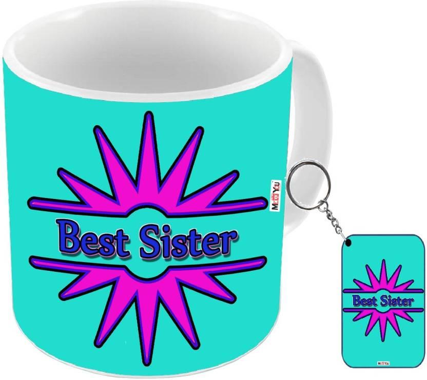 MEYOU Gift For Raksha Bandhan Anniversary Gifts SisterBirthday Your SisterRakhi Sister IZ18DTMK 301 Mug Keychain Set Price