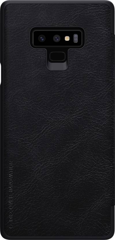buy popular 5f5e4 3e58e Nillkin Flip Cover for Samsung Galaxy Note 9, QIN LEATHER CASE
