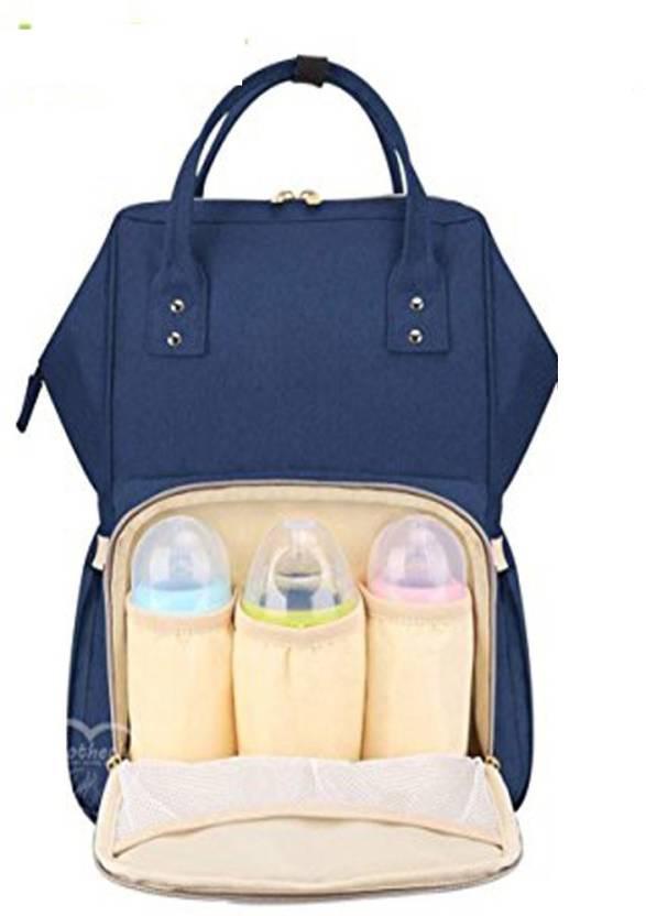 7bea807136de Baybee Premium Wide Open Designer Baby Diaper Backpack Multi-Function  Waterproof Tote Bag Stroller Straps