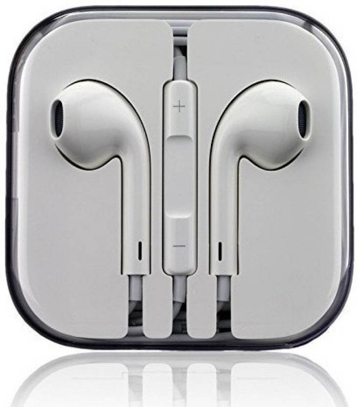 3376087574a Solitude Earpods with Mic 3.5mm (MNHF2ZM) - Blue net Wired airpods Headset  with Mic (White, In the Ear) Wired Headset with Mic (White, In the Ear)
