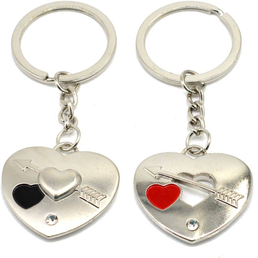 9e3c4d0e06 Faynci Two PC Twin Heart with Love Band Arrow Couple Key Chain for Gifting  Valentine Day/Birthday/Friendship Day Key Chain Price in India - Buy Faynci  Two ...