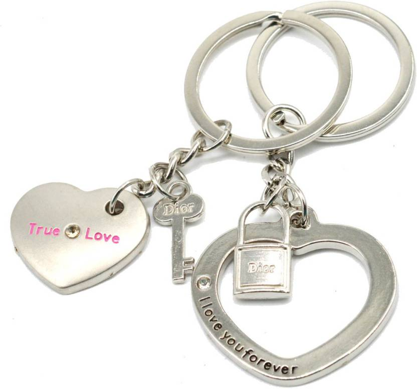 f63bf9219e Faynci Love You Forever couple True Love design with Locking Key Couple Key  Chain for Gifting Valentine Day/Birthday/Friendship Day Key Chain Price in  India ...