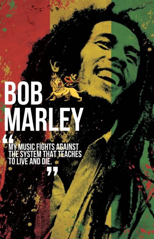 Original Decorative Bob Marley Poster Paper Print Paper Plane