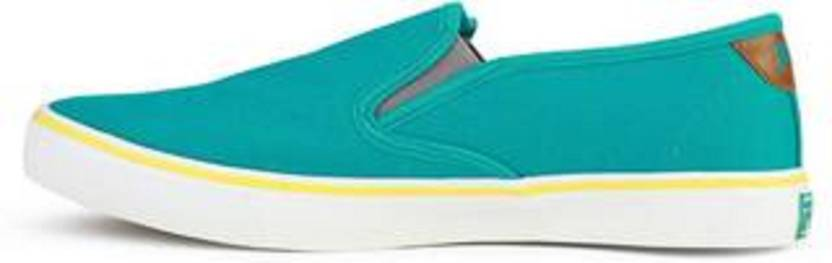 Fila Fila Mens Relaxer V Green And Yellow Slip On Sneakers Shoes
