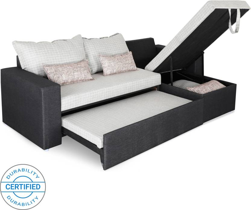 Sofame Rio Double Sofa Sectional Bed (Finish Color - Silver Mechanism Type  - Pull Out) 128c8f87c4a7