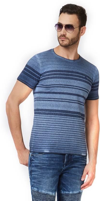 0b71b3ca6113 Killer Striped Men's Henley Blue T-Shirt - Buy Killer Striped Men's ...