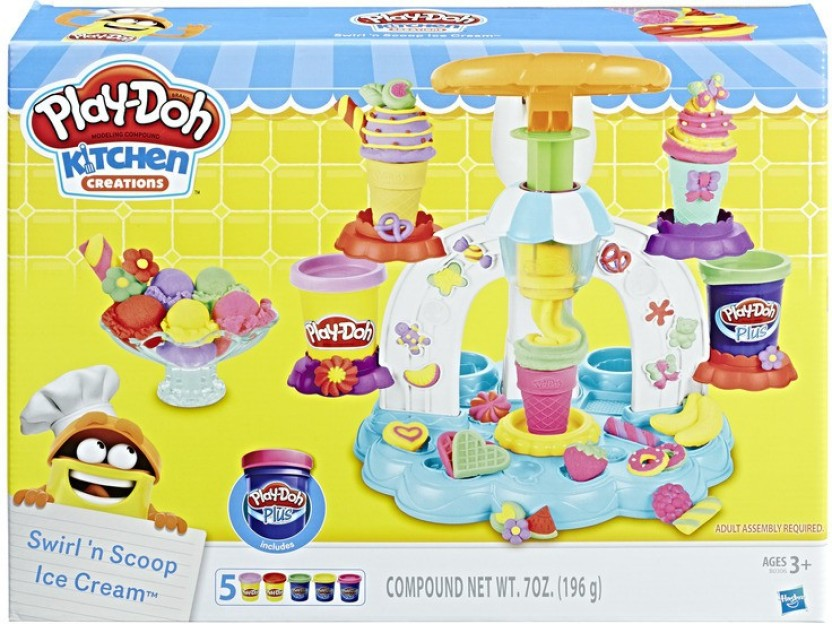 Play Doh Kitchen Creations   Swirl N Scoop Ice Cream