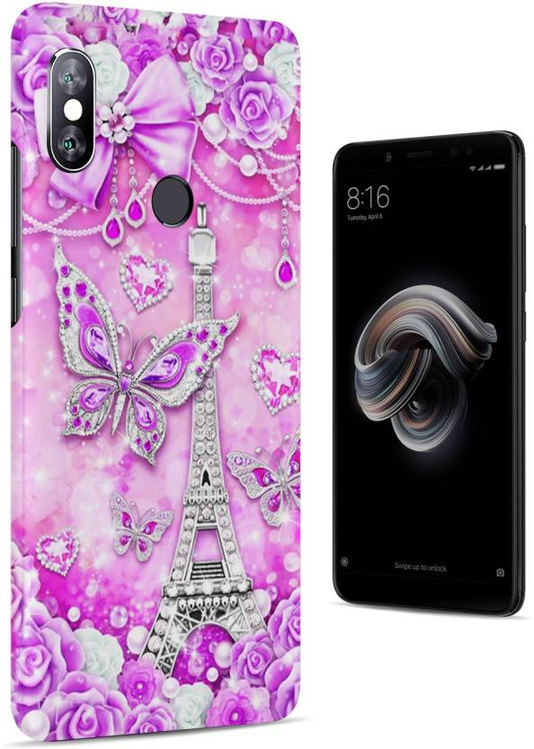 bb1e71406 CHAPLOOS Back Cover for Mi Redmi Y2 (Paris Eiffel Tower Glowing Purple  Butterfly