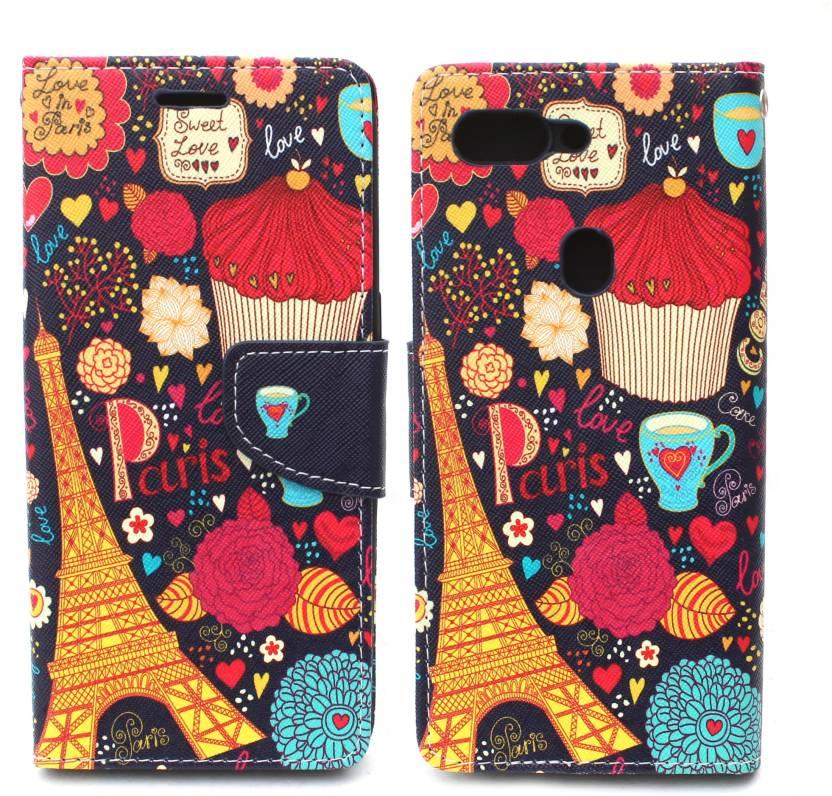 Fashion Flip Cover for Oppo R15 Pro (Multicolor, Artificial Leather)