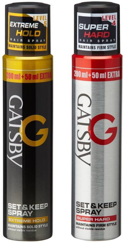 Gatsby Set   Keep Hair Spray Extreme Hold with Super Hard Hair Spray level  4  5  250mlx2 Hair Styler - Price in India 3f1ee3cfb8272