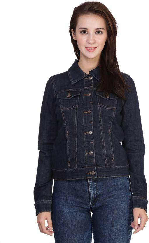 MansiCollections Full Sleeve Solid Women Denim Jacket - Buy Dark Blue  MansiCollections Full Sleeve Solid Women Denim Jacket Online at Best Prices  in India ... 0a0be7ac92