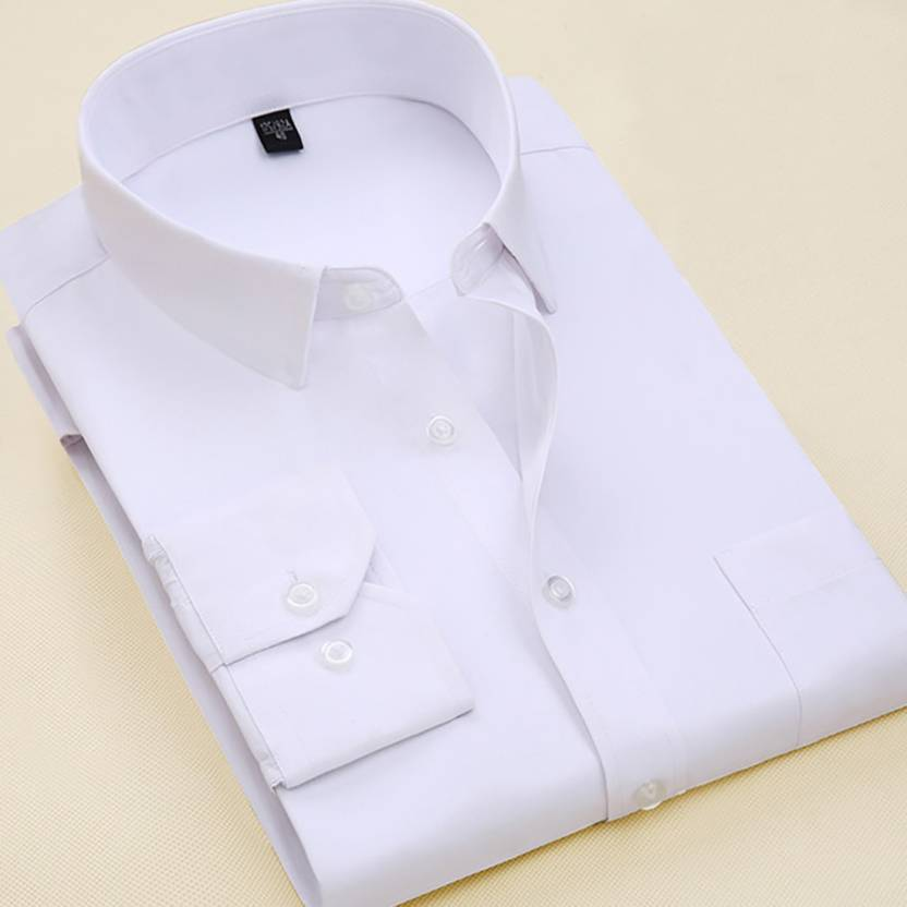 ea133df4a95 Qlonz store Men Solid Formal White Shirt - Buy Qlonz store Men Solid Formal  White Shirt Online at Best Prices in India