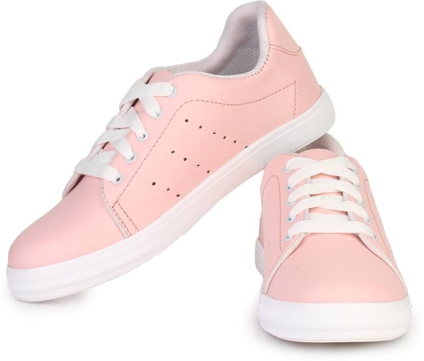 924aa4f913e D-SNEAKERZ Women s And Girls Synthetic Leather Casual Partywear Sneakers  Shoes Pink Colour Sneakers For Women (Pink)