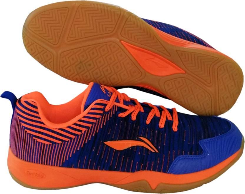 2696473bd010c8 Li-Ning ION II Superlite Non-Marking Badminton Shoes Badminton Shoes For  Men (Blue)