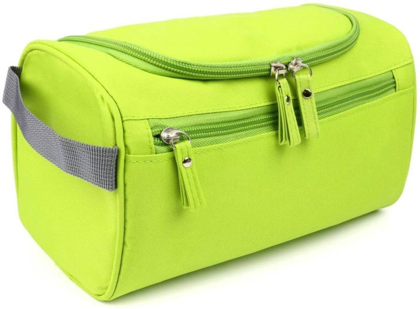 79c2feabec Styleys Hanging Fabric Travel Toiletry Bag Organizer and Dopp Kit storage  Bag Travel Toiletry Kit (Green)