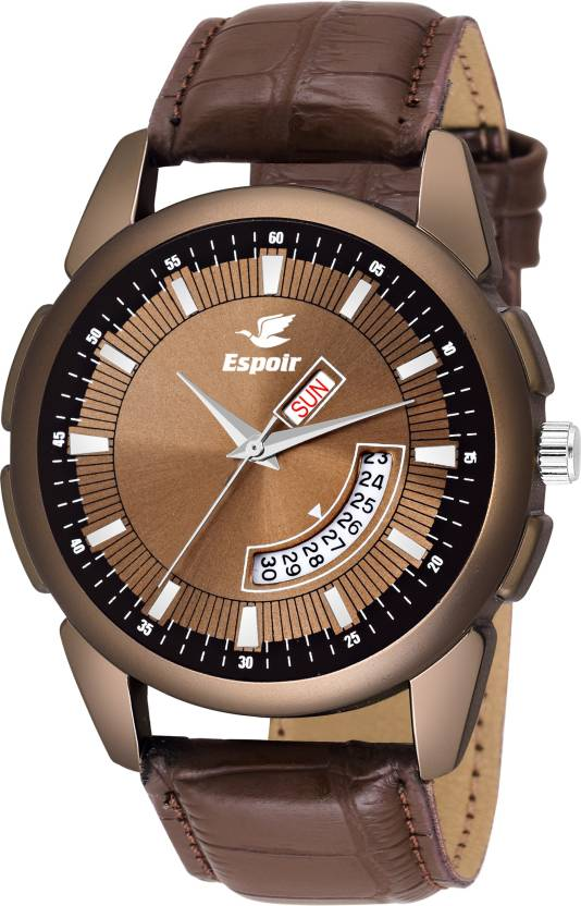 bafa35542e5 Espoir LS9007-2 Day and Date Watch - For Men - Buy Espoir LS9007-2 Day and Date  Watch - For Men LS9007-2 Online at Best Prices in India