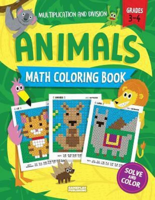 Animals Math Coloring Book: Buy Animals Math Coloring Book by ...