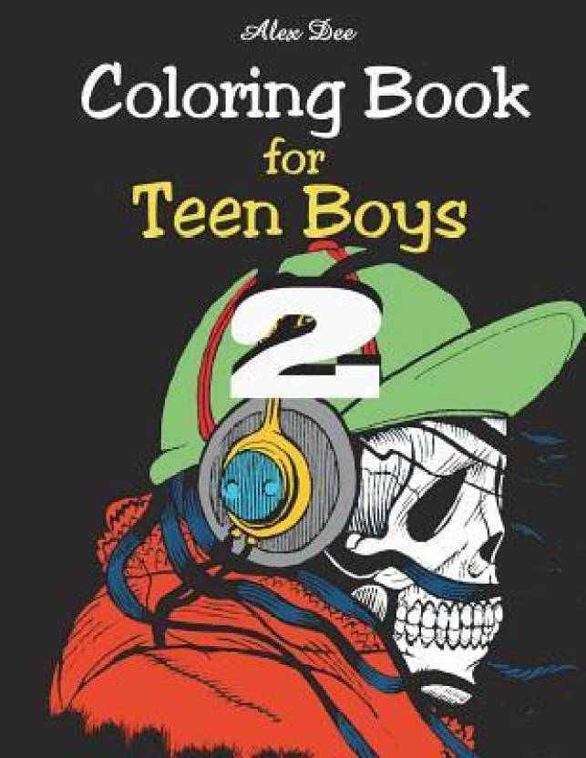 Coloring Book - For Teen Boys 2: Buy Coloring Book - For Teen Boys 2 ...