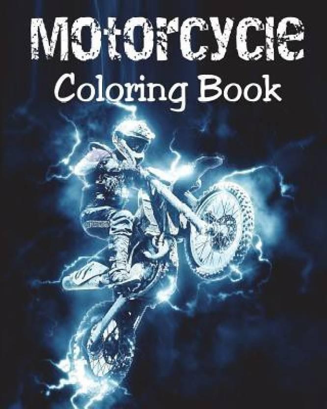Motorcycle Coloring Book: Buy Motorcycle Coloring Book by Alex Dee ...