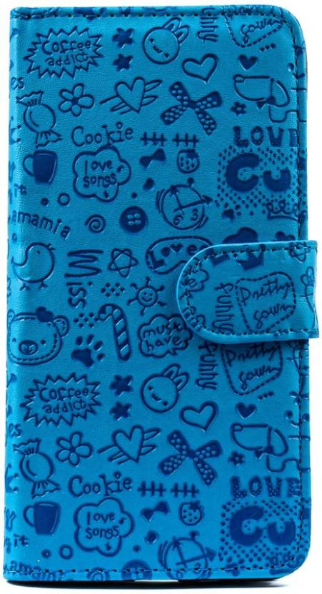 Mystry Box Flip Cover for Samsung Galaxy S7 Edge Blue