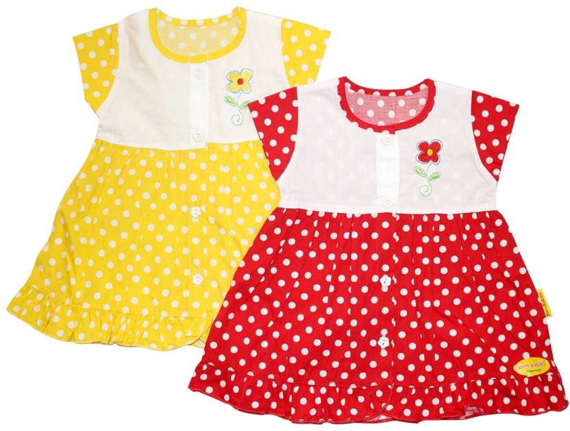 214e3af9236b Born Babies Girls Midi Knee Length Casual Dress Price in India - Buy ...