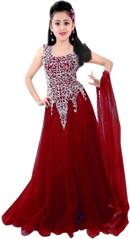 d67afe0f9 MF Retail Girl's Lehenga Choli Ethnic Wear Embroidered Lehenga, Choli and  Dupatta Set (Multicolor, Pack of 1)