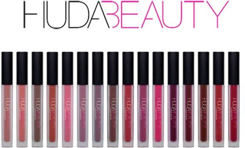 Huda Beauty Set of 16 Liquid Lipstick