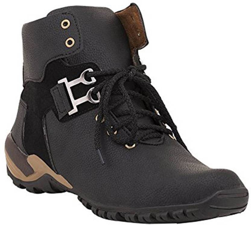 6a5a70b841f DLS DLS black casual party wear boots shoes for men's Party Wear For Men  (Black) Boots For Men