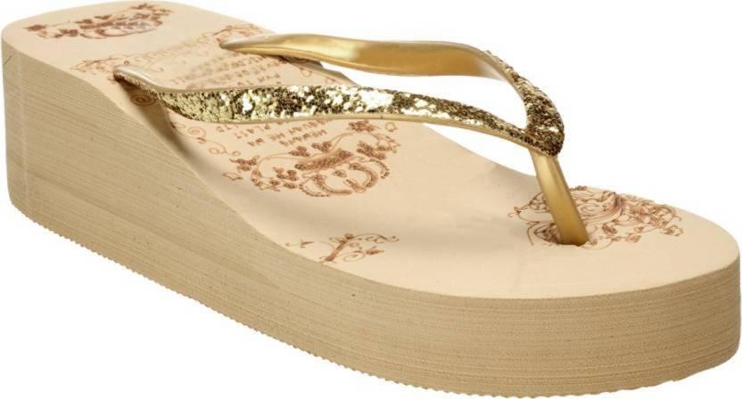 897881666 LooksFootwear Casual Slipper Womens Girls Slippers - Buy Gold Color  LooksFootwear Casual Slipper Womens Girls Slippers Online at Best Price -  Shop Online ...
