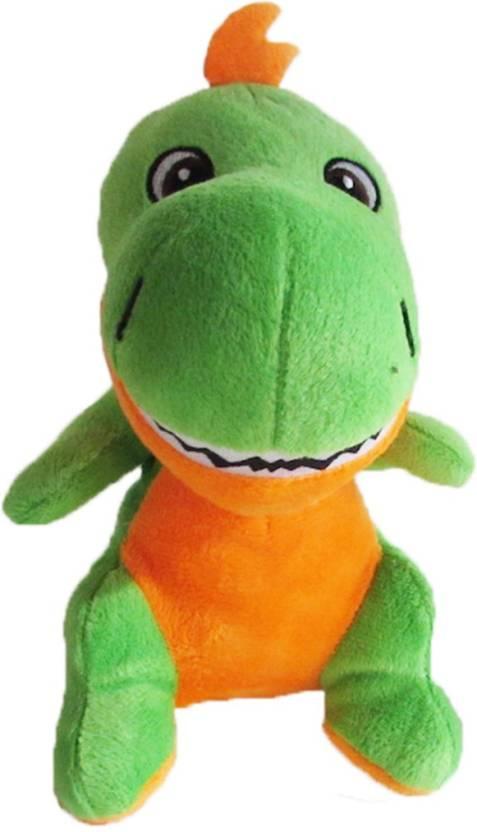 1a2e2faf245a My Baby Excels Baby Dinosaur Plush Green   Orange Colour 19 cm - 19 ...