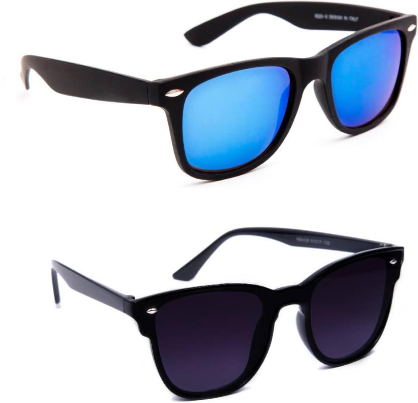ecd96f1a7 Buy TheWhoop Wayfarer Sunglasses Blue, Black For Men & Women Online ...