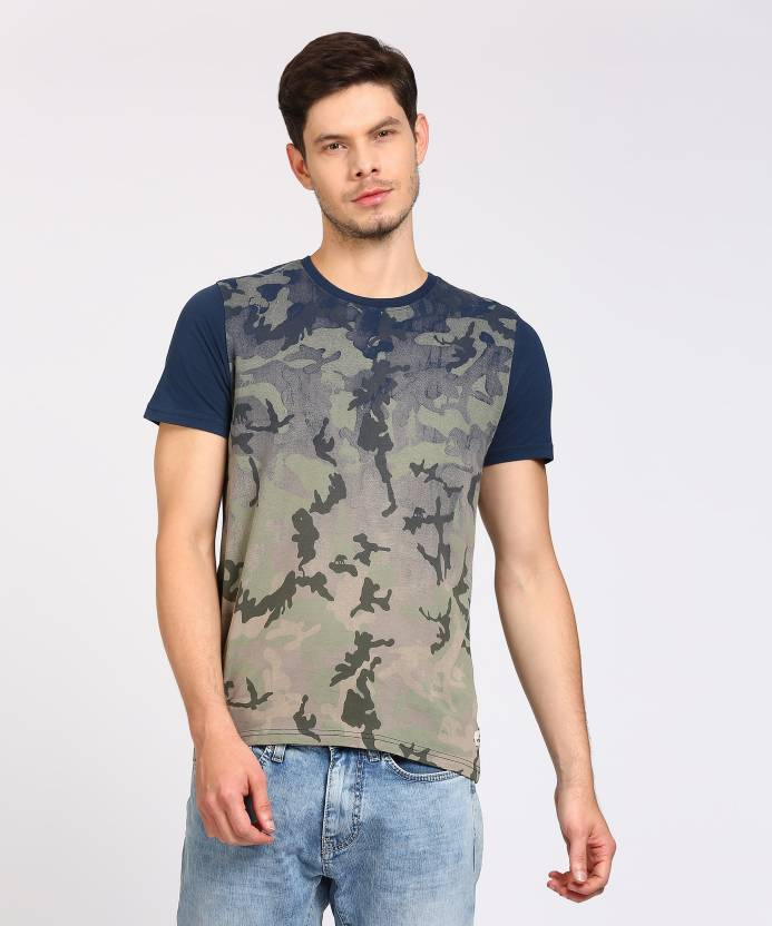 53b7d710 WROGN Military Camouflage Men Round Neck Multicolor T-Shirt - Buy NAVY  WROGN Military Camouflage Men Round Neck Multicolor T-Shirt Online at Best  Prices in ...