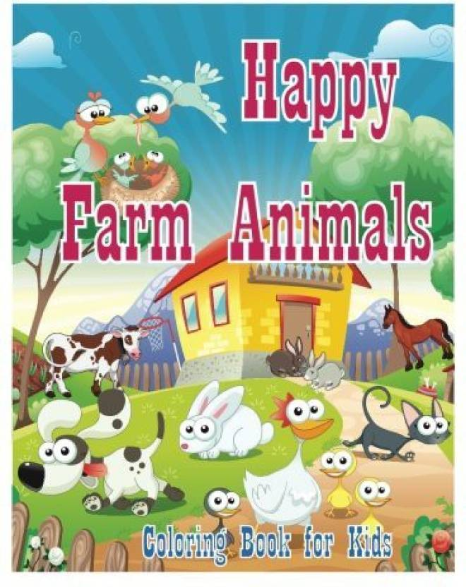 Generic Coloring Book For Kids Happy Farm Animals Coloring Book